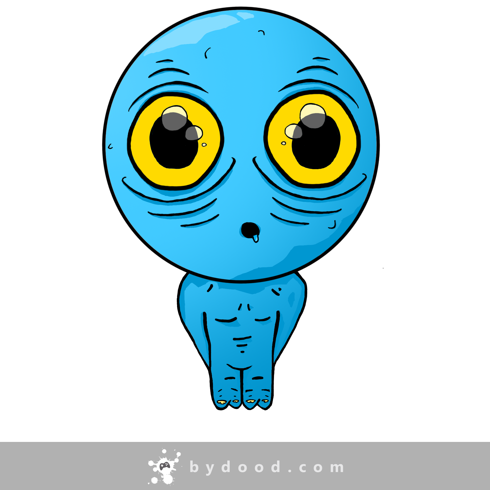 Baffled little alien